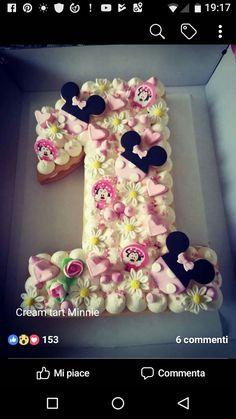 Cream tart Girls Birthday Party Themes, 1st Birthday Cakes, Mickey Birthday, Birthday Parties, Cake Story, Cupcake Cakes, Cake Icing, Pistachio Cake, Biscuit Cake