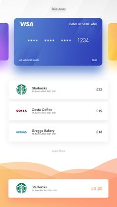 This was an inspired peice, essentially an app in which you can place small cuisine/drinks for deliverly whilst still hot in the local area. Ui Design Mobile, Ios App Design, Web Design, Interface Design, User Interface, Card Ui, App Design Inspiration, Mobile App Ui, Finance