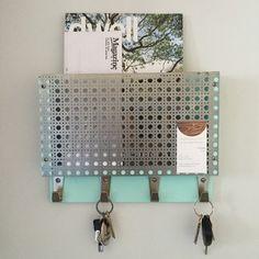 Mid century modern SEAFOAM MINT magazine rack mail by ModShopGirl