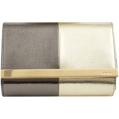 FENDI Small Evening Pouch (224.975 HUF) found on Polyvore
