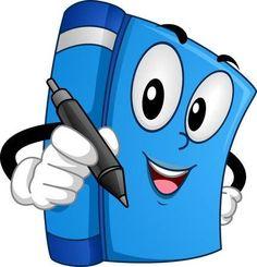 Mascot Ilustraci�n de una explotaci�n agr�cola del libro una pluma en un evento Firma de libro