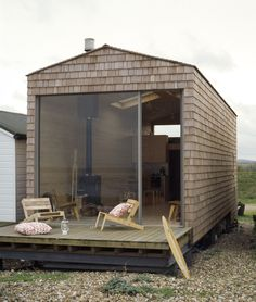 To know more about tiny house design beach chalet - exterior, visit Sumally, a social network that gathers together all the wanted things in the world! Featuring over 1 other tiny house design items too! Waterfront Cottage, Waterfront Property, Cottage Design, Beach Cottages, Beach Houses, Tiny Beach House, Small Cottages, Little Houses, Tiny Houses