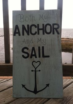 Beach WEDDING Sign For Ceremony, Reception or Home My Anchor, My Sail Quote Beach Sign Just Married  PERSONALIZE on Etsy, $35.14 AUD