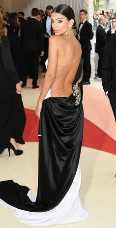 Met Gala Gowns You Need to See from Every Angle | People - Emily Ratajkowski in Prabal Gurung