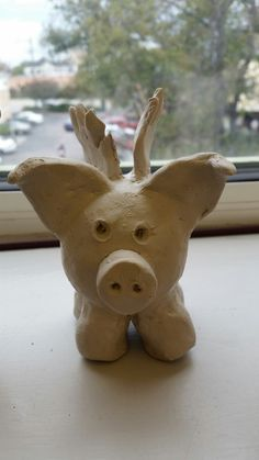 Clay Animal- Flying Pig