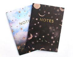 Pocket notebook Constellations & Northern lights by Nikkistrange