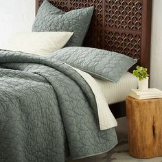 Or this set for random room.  Braided Quilt + Shams | west elm