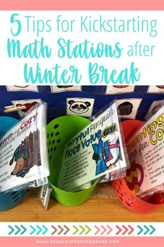 Looking for some quick, actionable tips for starting up math centers with your 1st, 2nd, and 3rd grade students after winter break? Check out these 5 simple tips to ensure an effective start to your new math centers this year!