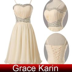 Grace Karin New Arrival Spaghetti Straps Strapless Mini Short Chiffon Party  Homecoming Dresses With Beading Sequins CL6017 Short Homecoming Dresses  Under ... 93afbd7105ed