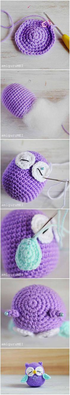 How to Make a Cute Amigurumi Crochet Owl #craft #crochet #Amigurumi #pattern #owl
