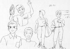 Flooby Nooby: The Art of Studio Ghibli - Part 7 Character Model Sheet, Character Sketches, Character Design References, Character Illustration, Animation Character, Yoshifumi Kondo, Manga Drawing Tutorials, Drawing Tips, Studio Ghibli Characters