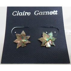 Reduced brand new Claire Garnett Leaf Stud Earrings Claire Garnett - Size: Small - Metallics | Oxfam GB | Oxfam's Online Shop