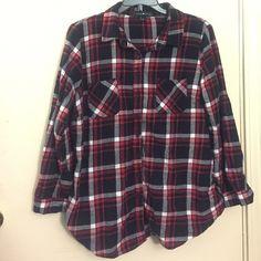 Flannel Shirt Very soft flannel shirt. Great condition! Derek Heart Tops Button Down Shirts