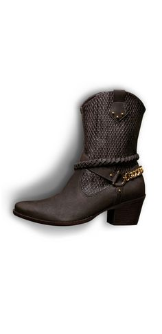 country boots - brown shoes - winter - correntes - Inverno 2015 - Ref. 15-6155