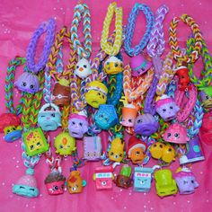 VENTE Shopkins Party Favor Pack de Rainbow Loom Bracelets