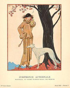Shop Autumn Symphony by George Barbier Postcard created by FalconsEye. Postcard Art, Postcard Size, Ballet Costumes, Art Deco Fashion, Fall Fashion, Art Deco Design, Amalfi, All Art, Illustrators