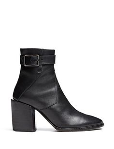 HELMUT LANG Leather Buckle Boot
