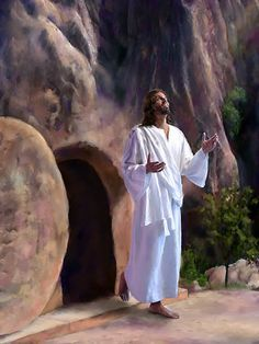 The resurrection of Jesus Christ proves that He is the Son of God. He is also the resurrection himself. Pictures Of Jesus Christ, Religious Pictures, Easter Pictures Of Jesus, Way To Heaven, Jesus Resurrection, Biblical Art, Jesus Is Lord, Christian Art, Savior