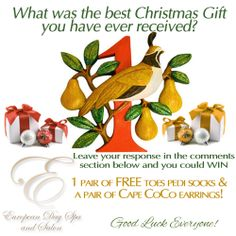 Check out our Facebook page for our 12 Days of Christmas Free Give aways by clicking on the image!