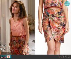 4eb00edc9e35e5 Genevieve s sequined skirt on Devious Maids. Outfit Details  https    wornontv.