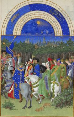 Labors of the Months from the Trés Riches Heures; The Très Riches Heures du Duc de Berry (or simply the Très Riches Heures) is probably the most important illuminated manuscript of the century. Medieval Life, Medieval Art, Medieval Manuscript, Illuminated Manuscript, Berry, Johannes Itten, Renaissance Kunst, Renaissance Artists, Charles Perrault