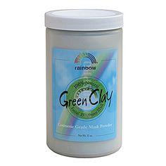 Green Clay Mask Powder 8 Ounces Rainbow Research http://www.amazon.com/dp/B000WUJJ0K/ref=cm_sw_r_pi_dp_aWrEwb1ZEH7EC