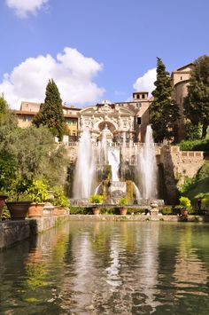 Villa d'Este in Italy, which is about an hour drive from Rome
