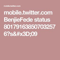 mobile.twitter.com BenjieFede status 801791638507032576?s=09