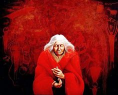 """""""Invocation of the Crone"""" Artist: Frank Howell"""