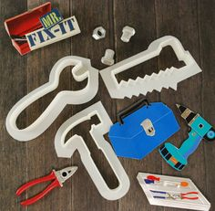 Tools set of cookie cutters for father's day!