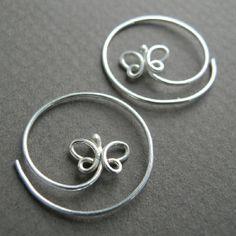 Butterfly Twirl Earrings (2011) Sterling silver Formed, soldered
