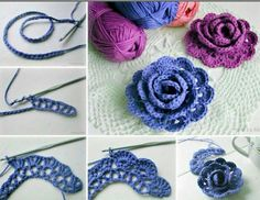 How to make a crochet rose rose diy crochet diy ideas diy crafts do it yourself diy projects