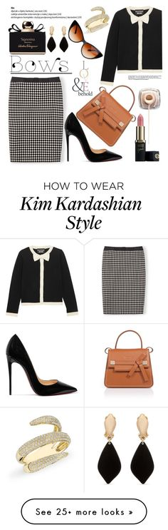 """""""Put a Bow on It!"""" by louise-frierson on Polyvore featuring Boden, Boutique Moschino, ESCADA, Christian Louboutin, Salvatore Ferragamo, ASOS, Anne Sisteron and Erica Lyons"""