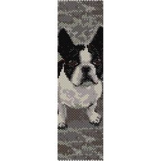 French Bulldog Peyote Bead Pattern, Bracelet Cuff, Bookmark, Seed Beading Pattern Miyuki Delica Size 11 Beads - PDF Instant Download by SmartArtsSupply on Etsy
