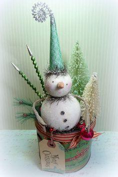 Winter WONDERLAND Holiday Decor Vintage by CatandFiddlefolk