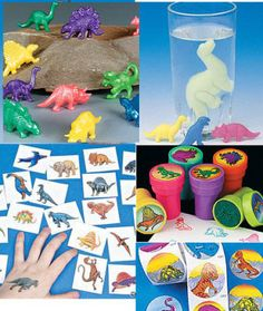 Lot 100 Dinosaur birthday party favors kit TREX games boy set decorations gift | eBay