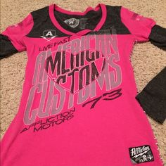 Sinful Hot Pink T-Shirt Long sleeve T in great condition Affliction Tops Tees - Long Sleeve