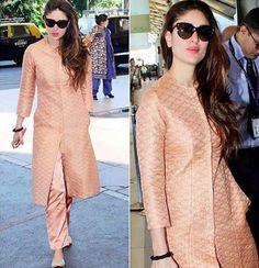 Five times Kareena Kapoor Khan gave us major ethnic-wear goals - Lifestyle News<br> Salwar Designs, Silk Kurti Designs, Kurta Designs Women, Kurti Designs Party Wear, Blouse Designs, Dress Indian Style, Indian Dresses, Indian Wear, Indian Outfits