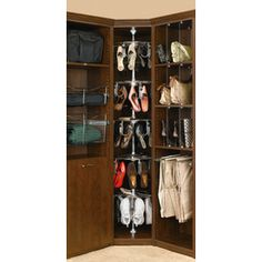 I think you could build something like this for the shoes yourself, for much less! Rev-A-Shelf�5-Shelf Women's Shoezen
