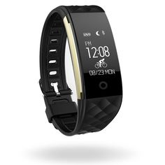 """Fitness Tracker Watch with Heart Rate Monitor, MLVOC S2 Bluetooth 4.0 Smart Bracelet Fitness Band Activity Tracker Waterproof Swimming Wristband Pedometer for Android iOS Phones (black). ★NOTE: Please identified """"MLVOC"""" before make a purchase. S2 Fitness tracker with heart rate monitor is designed by MLVOC and ONLY SOLD BY Corki; Download the app """"smart wristband"""". ★Main Functions: pedometer, heart rate monitor, calorie & sleep tracking, sports and health recording; Alert Notification (calls"""