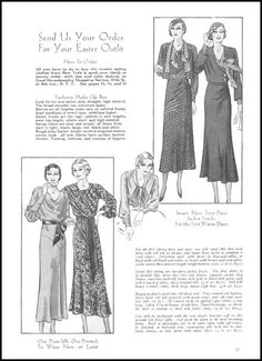 Send Us Your Order For Your Easter Outfit - Easter 1932 - Good Housekeeping
