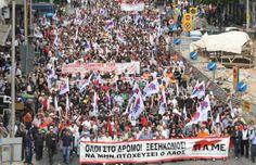 """Grèce : """"La population et la classe ouvrière ne se sont pas laissé faire sans réagir. (...) Même si ces luttes connaissent des hauts et des bas, il semble, de loin, que ce ne soit pas tant la combativité qui manque mais des perspectives politiques, des objectifs qui prennent en compte les intérêts matériels et politiques de la classe ouvrière dans ce contexte de crise. Le drame du prolétariat grec est l'absence d'une force politique qui défende de tels objectifs."""""""