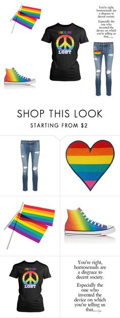 """""""LGBT+ Pride"""" by disney-wolf13 ❤ liked on Polyvore featuring rag & bone/JEAN and Converse"""