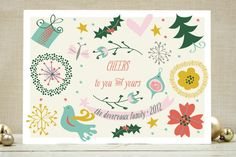 Naive Noel Holiday Non-Photo Cards by Cecile Paper... | Minted