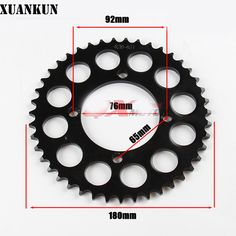 XUANKUN CRF70 Off-Road Motorcycle Modified Sprocket 43 Teeth Large Chain Wheel Chain Plate