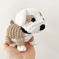 Made to Order BULLDOG crochet amigurumi Dog Crafts, All Toys, Bulldog Puppies, Toy Sale, Jelly Beans, Hand Sewing, Dog Lovers, Crochet Hats, Make It Yourself