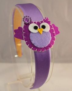 Amazon.com: Felt Owl Children's Headband (Purple): Clothing