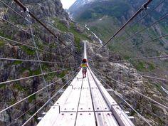 The suspension Trift bridge