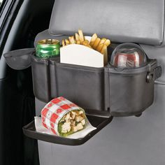 Back Seat Organiser With Tray, $13. For when your kiddos have to eat in the car