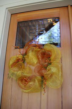 Fall Mesh Wreath, Savvy Seasons by Liz